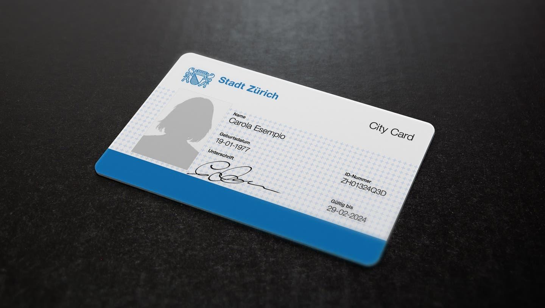 So könnte der einst vom Verein Züri City Card geforderte Ausweis aussehen. (Fotomontage: Tresdelinquentes / LTA)