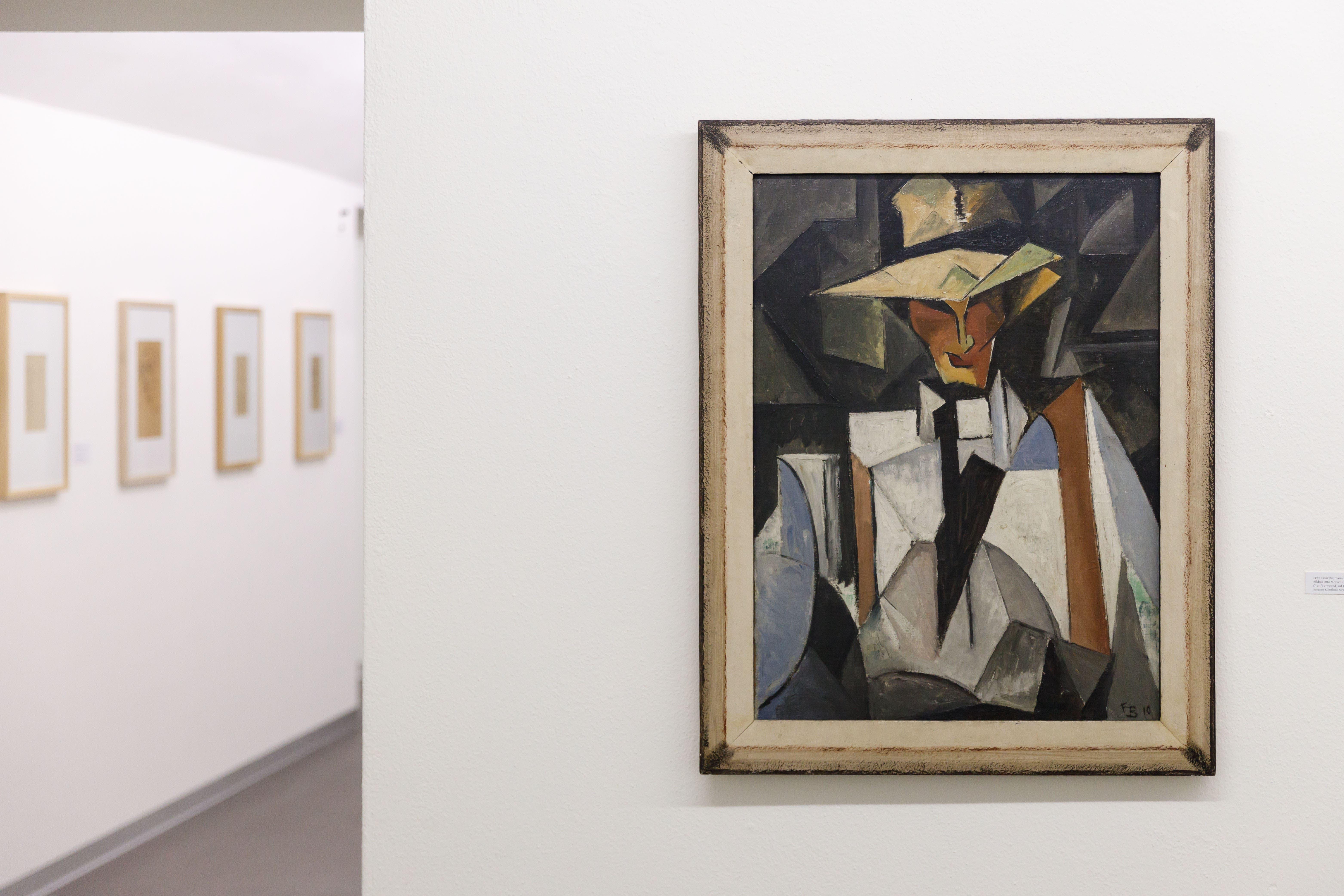 Ausstellung im Graphischen Kabinett. Fritz Cäsar Baumann. Bildnis von Otto Morach