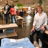 Brigitte Bolliger, Geschäftsführerin Modehaus Bernheim Olten, freut sich sichtlich auf die Wiedereröffnung nach dem erneuten Lockdown. (Bruno Kissling)