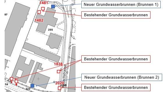 Beim Verwaltungszentrum an der Aabachstrasse wird gebohrt