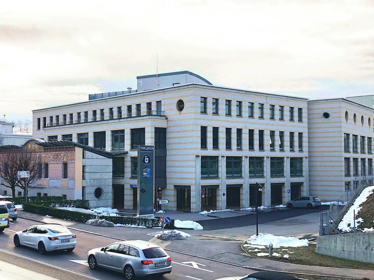 Der neue gemeinsame Polizeistützpunkt in Lenzburg: Das Malaga-Haus von aussen.