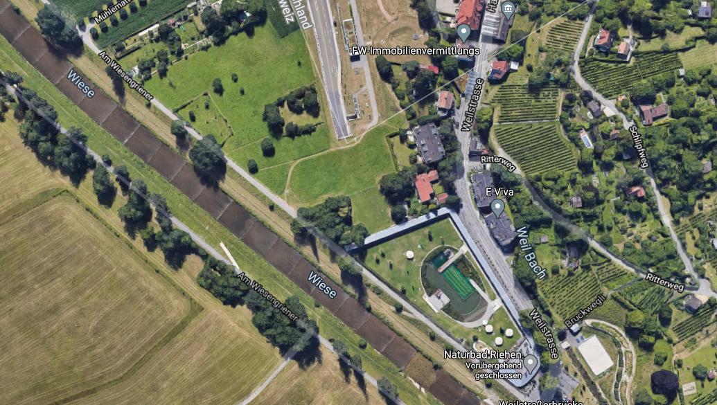 Der Erste Bürgermeister von Weil am Rhein wünscht sich bessere trinationale Zusammenarbeit. (Google Maps/ Screenshot)
