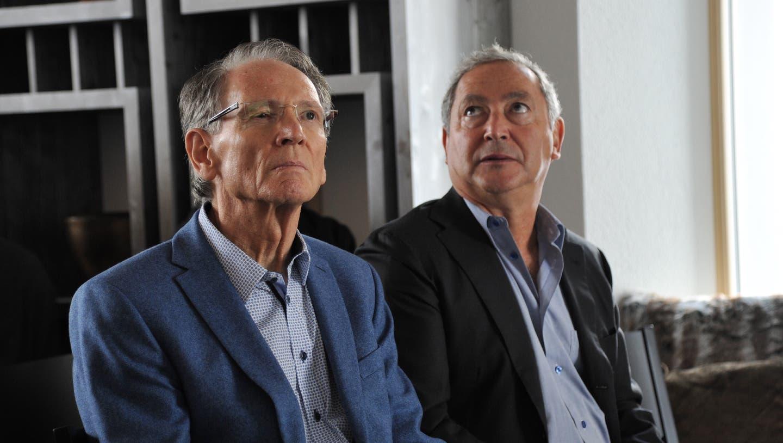 Die ehemaligen FCL-Aktionäre Hans Schmid und Samih Sawiris bei einem Anlass 2015 in Andermatt. (Urs Hanhart)