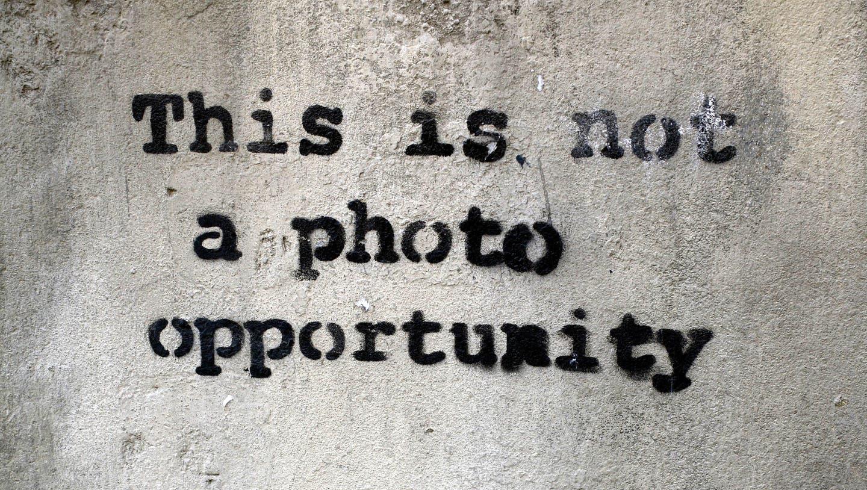 Ein Banksy-StencilbeimBorough Market in London. (Simon Woodcock / RETNA)