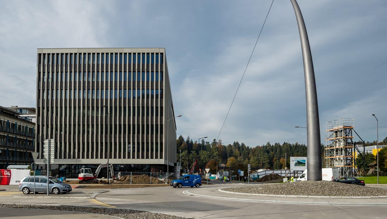 Das D4 Business Village. (Bild: Philipp Schmidli (Root, 24. Oktober 2019))