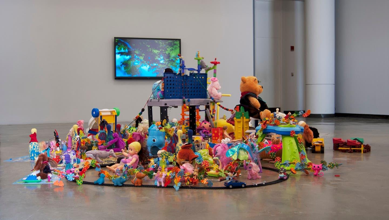 Die Installation von Joel Tauber, die im Kunstzeughaus Rapperswil ab 3. März zu sehen ist, lädt zum Teilen von Spielsachen ein. (Bild: PD)
