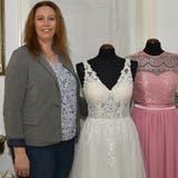 Caroline Inauen, Inhaberin des Braut- und Festtagsmodegeschäfts Hochzeitsvilla in Bischofszell. (Bild: Yvonne Aldrovandi-Schläpfer (Bischofszell, Februar 2021))