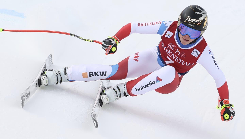 Lara Gut-Behramigewinnt erneut die Abfahrt in Val di Fassa und bringt sich in eine gute Position im Kampf um den Gesamtweltcup. (AP)