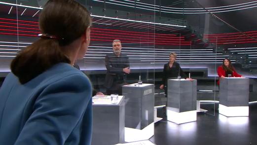 SVP-Nationalrätin Monika Rüegger liess sich kaum bremsen. (screenshotSRF)