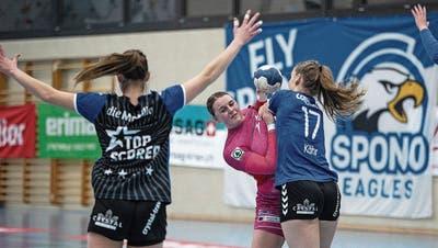 Die Spono Eagles gewinnen auch das dritte Derby der Saison gegen den LK Zug