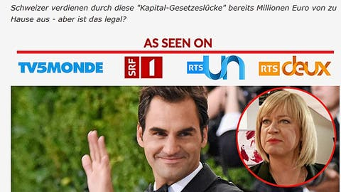 Mit Anzeigen wie dieser versuchen die Betrüger Schweizer Internetnutzer auch heute noch zu verführen. (zvg)
