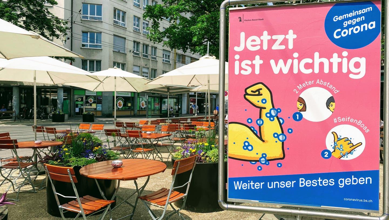 Gastronomie und Hotellerie in Basel wurden stark von den Coronamassnahmen getroffen. (Bild: Bilddatenbank BS/ Sabine Schneeberger)