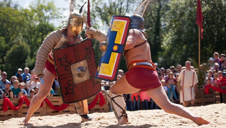 Gladidatorenkämpfe am Römerfest: Frühestens im Jahr 2022 wieder. (Zvg / BLZ)