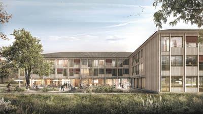 Die Fassade soll mit Holz aus der Region gebaut werden. (Visualisierung:Renderisch)