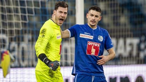 Müller freut sich nach dem gehaltenen Penalty. (Bild: Urs Flüeler / KEYSTONE)