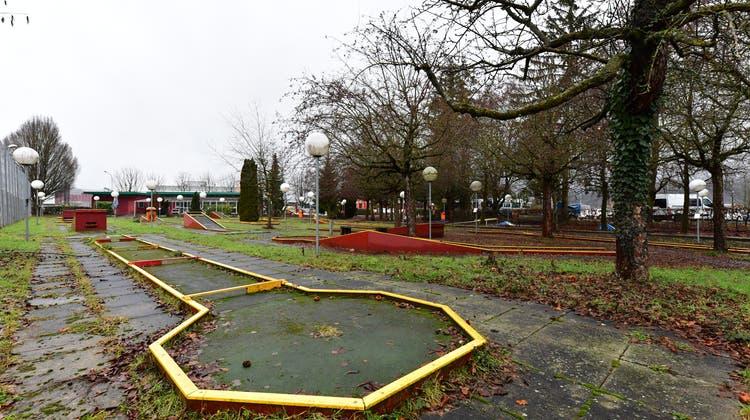 Die Minigolfanlage Minigolf Minigolfplatz Kleinholz südlich der MFK in Olten (Bruno Kissling / Oltner Tagblatt)