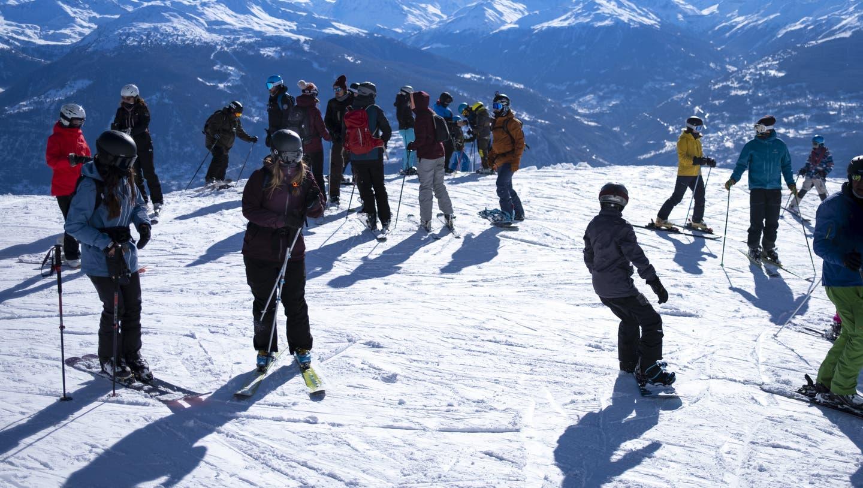 Der Kanton Waadt organisiert in seinen Skiorten Massentests. (Keystone)