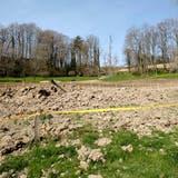 Eine Explosion der Gasleitung im Frühling 2014 bedeutete das Ende der Deponie Eichenkeller. (Bild: Kenneth Nars (Reigoldswil, 31.3.2014))