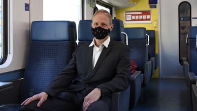Reto Widmer, der neue Präsident der Kommission öffentlicher Verkehr Freiamt der beiden Replas Unteres Bünztal und Oberes Freiamt. (Toni Widmer)