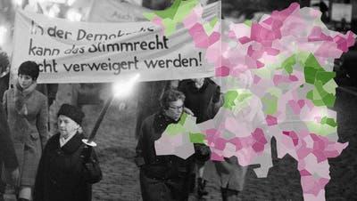 In einer Gemeinde wollte nur jeder Zehnte das Frauenstimmrecht – so stimmte der Aargau 1971