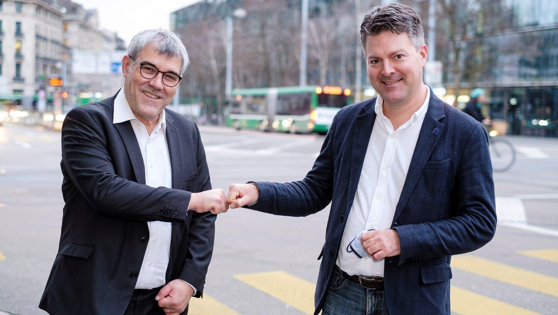 Gemeinsam für Europa: SP-Nationalrat Eric Nussbaumer (BL, links) und Andreas Schwab, Europaabgeordneter der CDU für Baden-Württemberg und Bezirksvorsitzender der CDU Südbaden. (BIld: Kenneth Nars)