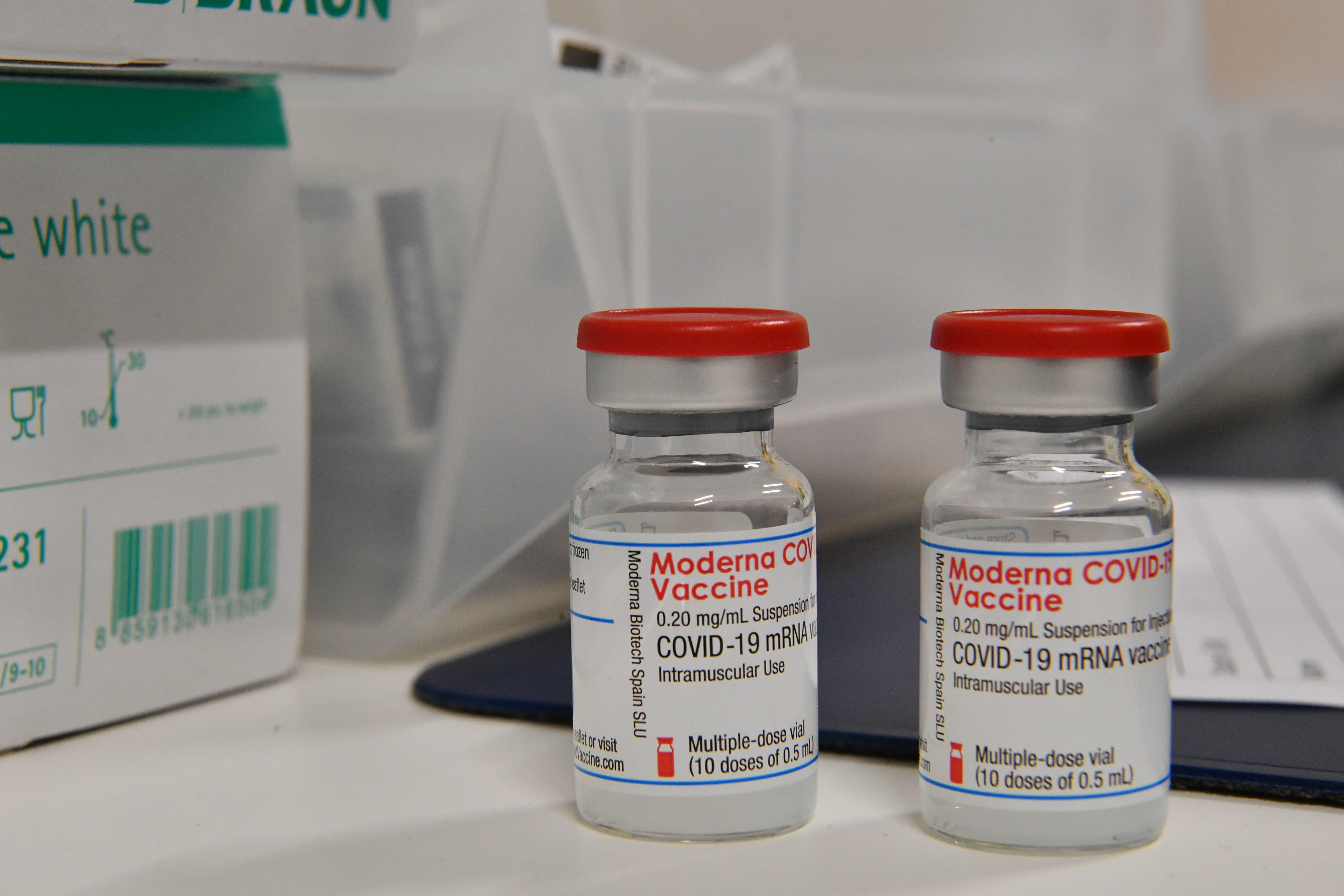 In Olten steht der Moderna Impfstoff bereit.