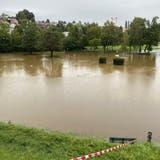 Die überflutete Wiler Reitwiese wurde einem Knaben zum Verhängnis (Bild: Simon Dudle (30. August 2020))