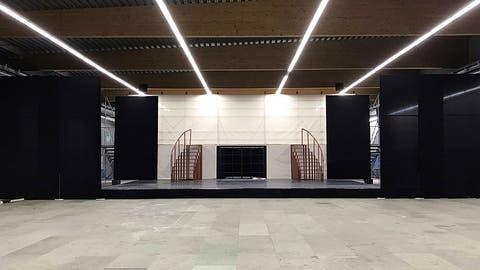 Die Curlinghalle wird zur Kulturbühne. Wie hier 2017 für ein Projekt der Zuger Musicalschule Voice-Steps. (Bild: PD)