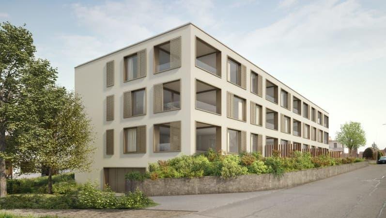 So soll die Gartenstrasse 3 in Rohr ab Sommer 2022 aussehen. (Visualisierung: Immobilia 4 / zur Verfügung gestellt)
