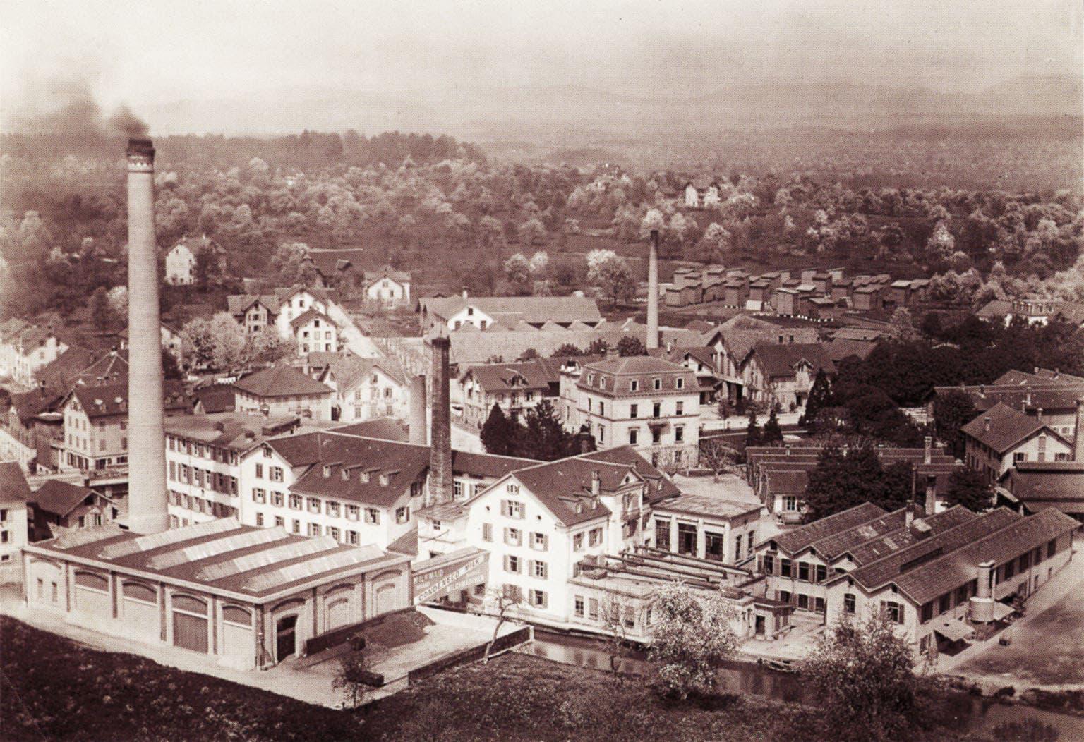 Die Fabrik der Anglo-Swiss Milk Company im Jahre 1910.