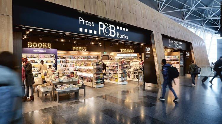 Ein rückläufiges Geschäft: Press&Books-Filiale am Zürcher Flughafen. (Valora)