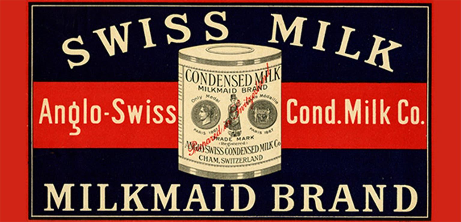 Das Markenzeichen der Kondensmilchfabrik.