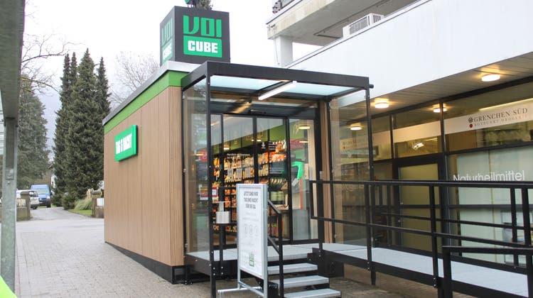 Voi 24h-Laden in Grenchen: Kunden gelangen mittels einer App im Automaten. (Andreas Toggweiler / Solothurner Zeitung)