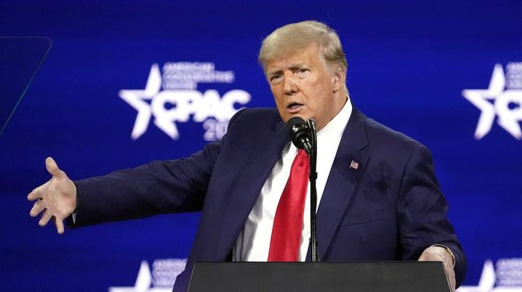 Donald Trump bei seiner Rede. (Keystone)