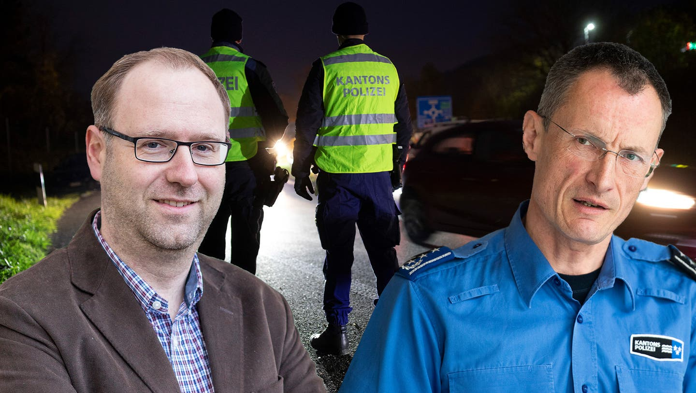 Staatsanwalt Simon Burger (links) und Polizeikommandant Michael Leupold sind sich nicht einig, wenn es um das Vorgehen der Polizei bei Kontrollen und Verhaftungen geht. (Montage AZ/Bigler/Ardizzone/Spichale)