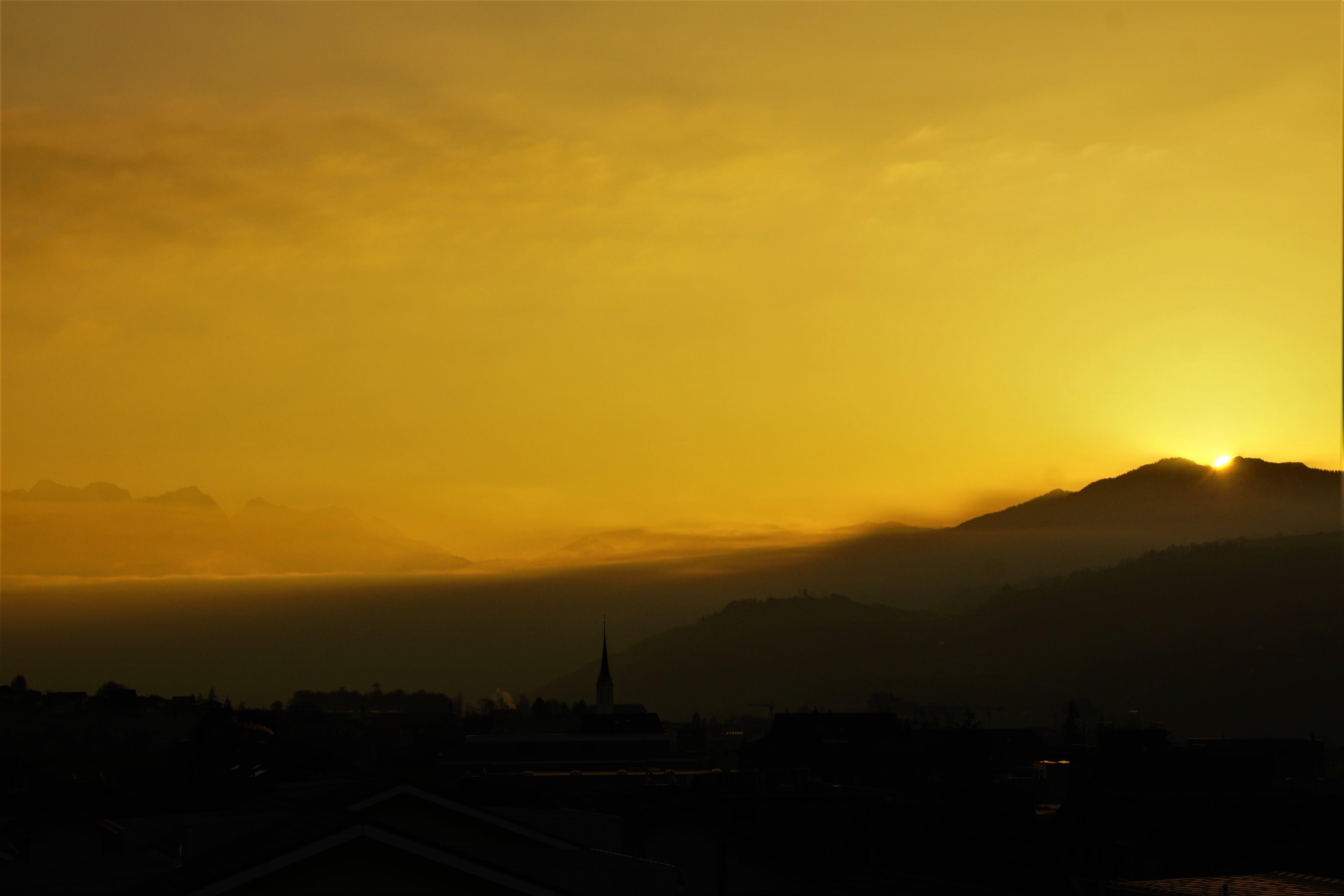 Ein besonders schöner Sonnenuntergang am letzten Tag im Februar.