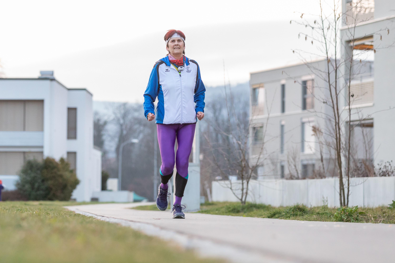 Trainiert mindestens zweimal wöchentlich: Evelyne Scheuss.