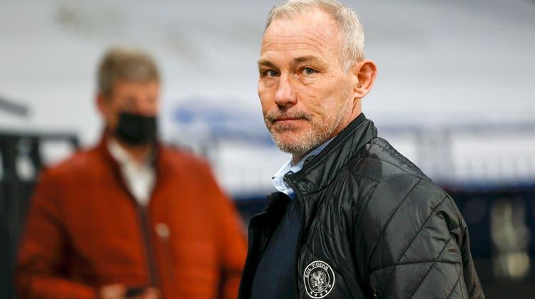 Muss Ende Saison gehen: Langnau-Trainer Rikard Franzén. (Bild: Freshfocus (19. Februar 2021))