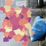 Nicht überall in der Region sind die Abfallsäcke gleich teuer. (Urs Helbling  / Aargauer Zeitung)