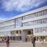 Das neue Gemeindehaus soll auf dem Areal des Werkhofs und der Feuerwehr gebaut werden. (Visualisierung/zvg)