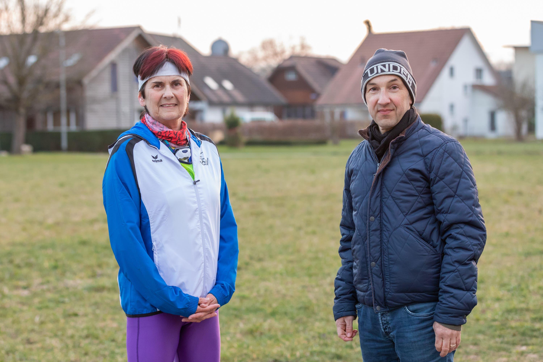 Evelyne Scheuss und Manuel Habegger von der Laufgruppe Niederamt.