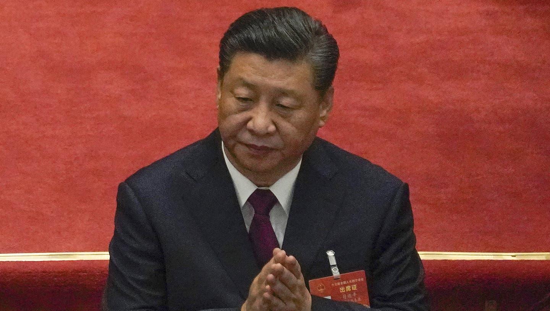 Chinas Präsident Xi während des alljährlichen Volkskongresses in Peking. (Andy Wong / AP)