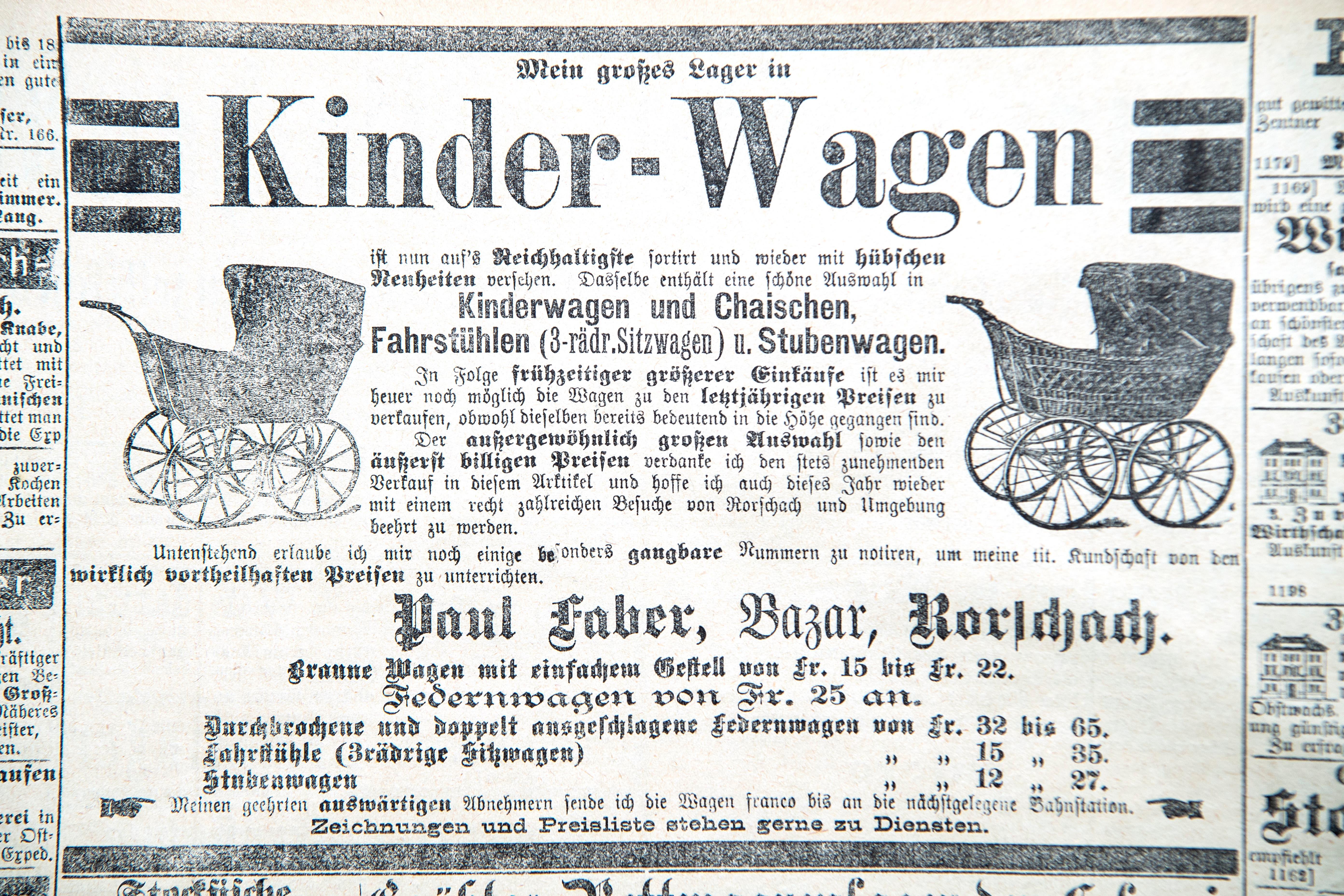 Erschienen am 8. Februar 1890 im «Ostschweizer Wochenblatt».