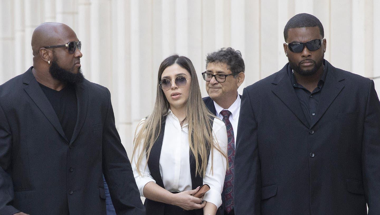 Emma Coronel Aispuro, die Ehefrau des gestürzten mexikanischen Drogenbarons «El Chapo», nach der Urteilsverkündung gegen ihren Mann in New York City 2019. (AP)