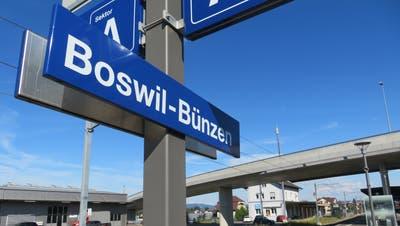 Voraussichtlich 2022 dürfen die Boswiler und Bünzer Stimmbürger darüber entscheiden, ob künftig nicht nur der Bahnhof geteilt wird. (Marc Ribolla)