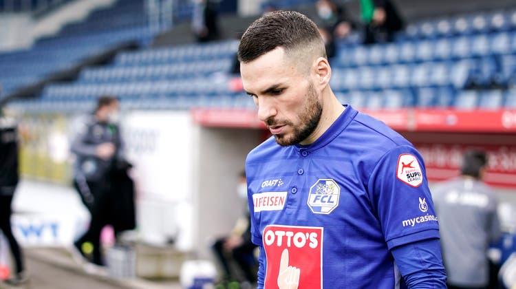 Sein bisher letzter Auftritt für den FCL: Dejan Sorgicvor dem Heimspiel am letzten Sonntag gegen den FC St.Gallen. Luzern gewann 4:2. (Bild: Martin Meienberger/Freshfocus (Luzern, 7. März 2021))
