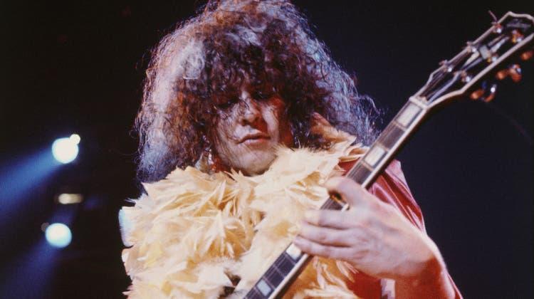Marc BolanDer Frontmann von T. Rex war der erste und der letzte Star des Glamrock. 1977, zwei Wochen vor seinem 30. Geburtstag, starb er bei einem Autounfall. Mit ihm wurde auch der Glamrock begraben. (Alamy, Dukas, Getty Images, Imago)