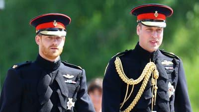 Prinz Harry und Prinz William in Uniform. (Keystone)