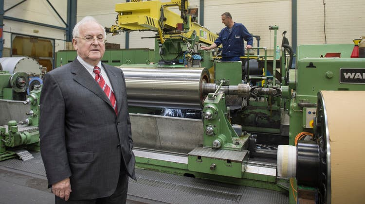 Edgar Oehler in einem seiner früheren Betriebe. (Ralph Ribi)