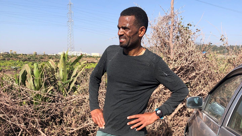 Tadesse Abraham während des Trainingslagers in Äthiopien. (Salvatore Di Nolfi / KEYSTONE)